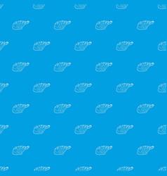 seaweed pattern seamless blue vector image