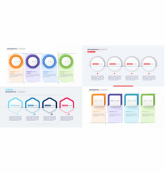 set modern infographic concept template vector image