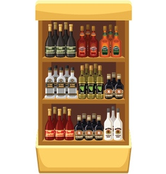 Shop alcoholic beverages vector image