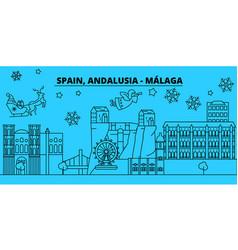 spain malaga andalusia winter holidays skyline vector image