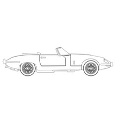 Sports car outline vector