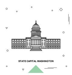 State capital washington vector