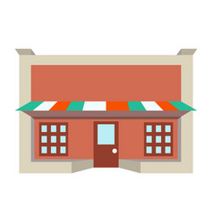 Store shop front window building color icon vector