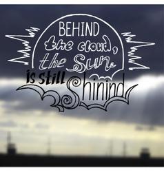 Sun is shining behind a cloud vector