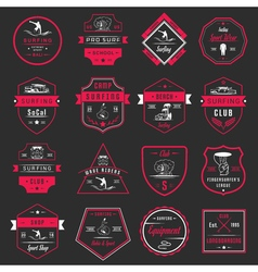 Surfing logo 2 red vector