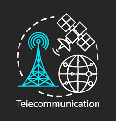 Telecommunication chalk concept icon overall vector