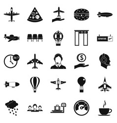 vessel icons set simple style vector image