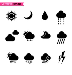 Weather icons set 2 vector