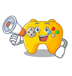 with megaphone modern game shaped controller vector image