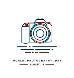 World photography day vector