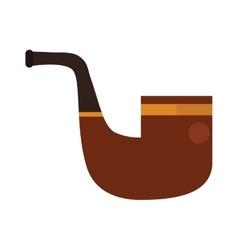 brown smoking pipe modern flat vector image