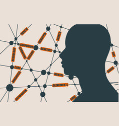 mental health relative words cloud vector image vector image