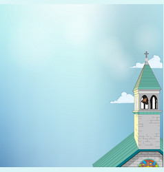 picture of a roman-catholic church vector image
