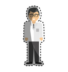 professional doctor specialist with glasses vector image vector image