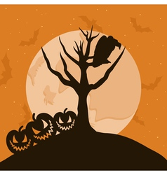 Raven in a tree vector