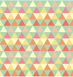 Retro seamless triangle pattern vector image vector image