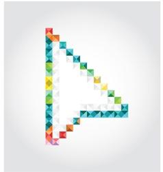 Abstract arrow of pixels vector image