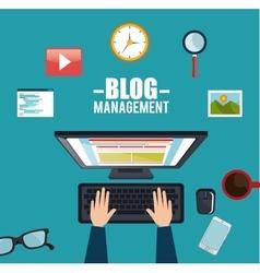 blog management social media vector image
