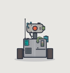 Classic square robot vector image vector image
