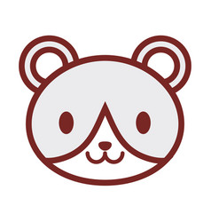 cute bear face image vector image vector image