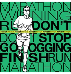 male runner sketch vector image vector image