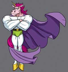unicorn superhero vector image