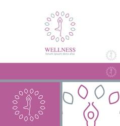 Yoga Wellness Health Concept Design Element vector image vector image