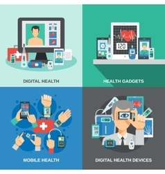 Digital health set vector
