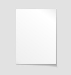 Empty sheet of paper template vector image vector image