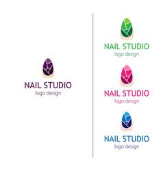 fashion nails studio logo for the beauty salon vector image vector image