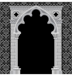 Gothic arch and wall vector image