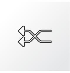 shuffle icon symbol premium quality isolated vector image