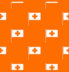 switzerland flag pattern seamless vector image vector image