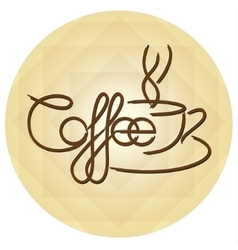 Coffee Cup Design Icon Background vector image