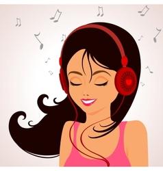 Girl music vector