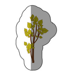 lime green stylized tree icon vector image