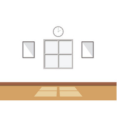 white room interior there is sunlight through vector image