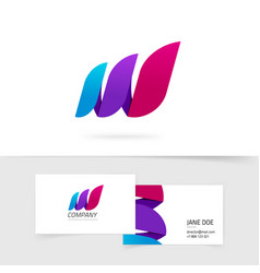 abstract three elements logo gradient vector image vector image