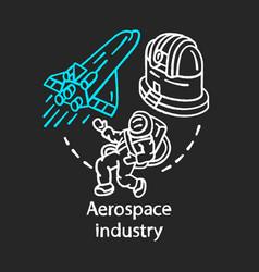 Aerospace industry chalk concept icon space vector