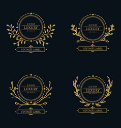 Amazing luxury logo designs vector