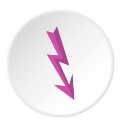 Arrow lightning icon circle vector