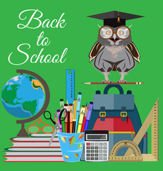 back to school flat vector image