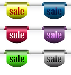 Bargain colored labels vector image