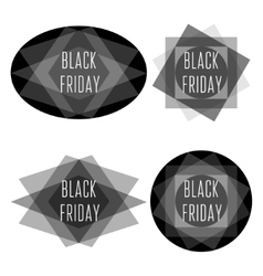 Black friday title collection vector image
