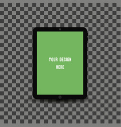 black tablet pc with transparent screen vector image