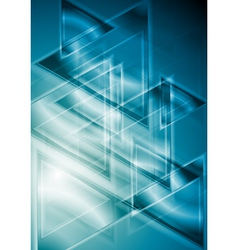 Blue geometrical background vector image vector image