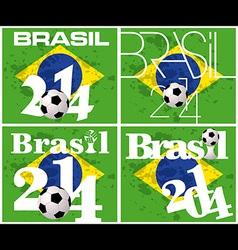 Brasil 2014 football championship vector image