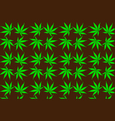 Cannabis plant background vector