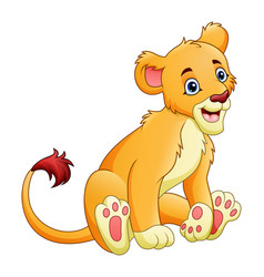 cartoon lioness isolated on white background vector image