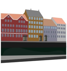 City by the canal vector